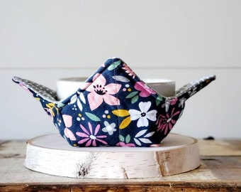 Navy Floral Bowl Cozy/ Bowl Cozy/Polka Dot Bowl Cozy/Grey Bowl Cozy