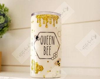 Queen Bee Tumbler & Slim Can Cozy/2 in 1 Tumbler