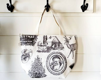 Christmas Lunch Tote/Holiday Lunch Bag