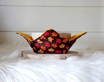 Fall Soup Bowl Cozy/Leaves Bowl Cozy/Autumn Bowl Cozy