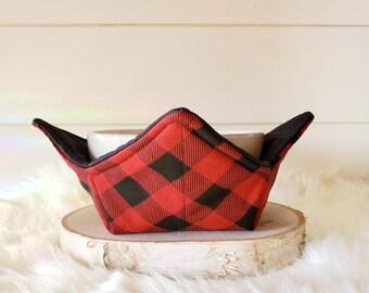 Red Buffalo Plaid Bowl Cozy