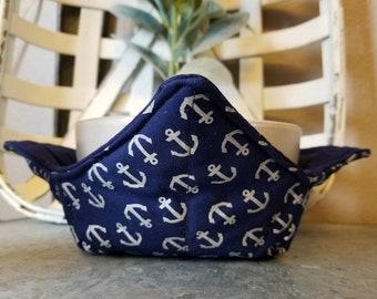Blue Anchor Bowl Cozy/Housewarming Gift