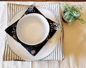 Bowl Cozy/Plate Cozy/Dinner Set/Microwavable Bowl Cozy/Microwaveable Plate Cozy/Housewarming Gift/College Gift