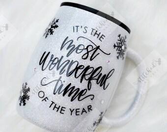 Its The Most Wonderful Time Of The Year Mug/Christmas Mug/Holiday Coffee Mug