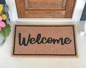 Dollhouse Miniature Welcome Door Mat Rug Doormat Farmhouse Rustic 1 Scale 1 12 MORE DESIGNS Fairy Garden