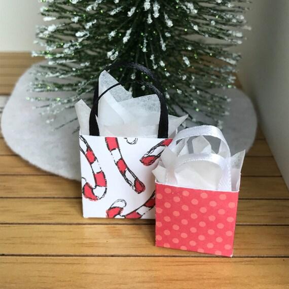 Dollhouse Miniature Christmas Gift Bag Set 1 Holiday Presents | Etsy