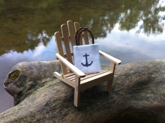 "Dollhouse Miniature Nautical Anchor Tote Bag Beach Lake Camping 1/"" Scale 1:12"