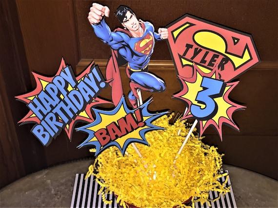 Superman Centerpiece Birthday Decorations