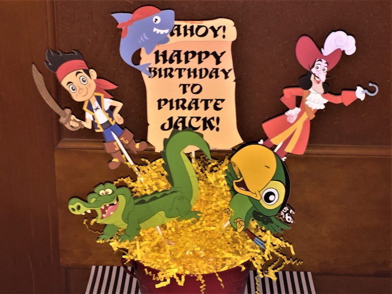 Jake And The Neverland Pirates Centerpiece Jake Pirates Etsy