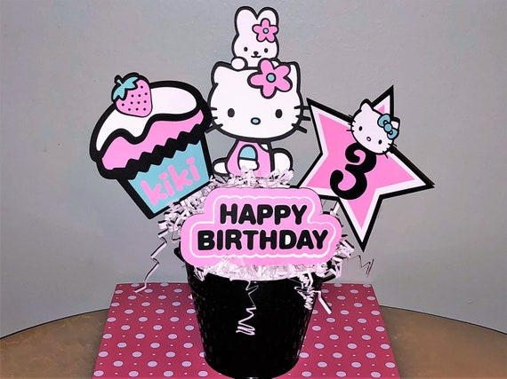 Hello Kitty Centerpiece Hello Kitty Birthday Hello Kitty Etsy