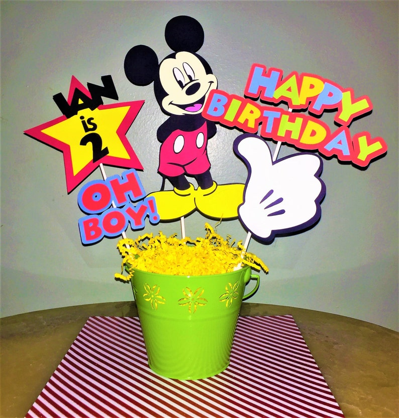 Mickey Mouse Centerpiece Birthday Decorations