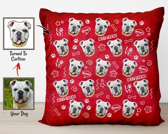 0f0a8e4d8da6 Pet Picture Pillows, Custom Dog Pillow, Personalized Photo Throw Pillow, Face  Pillow, Funny Throw Pillows, Gifts For Dog Lovers, Nana Gifts