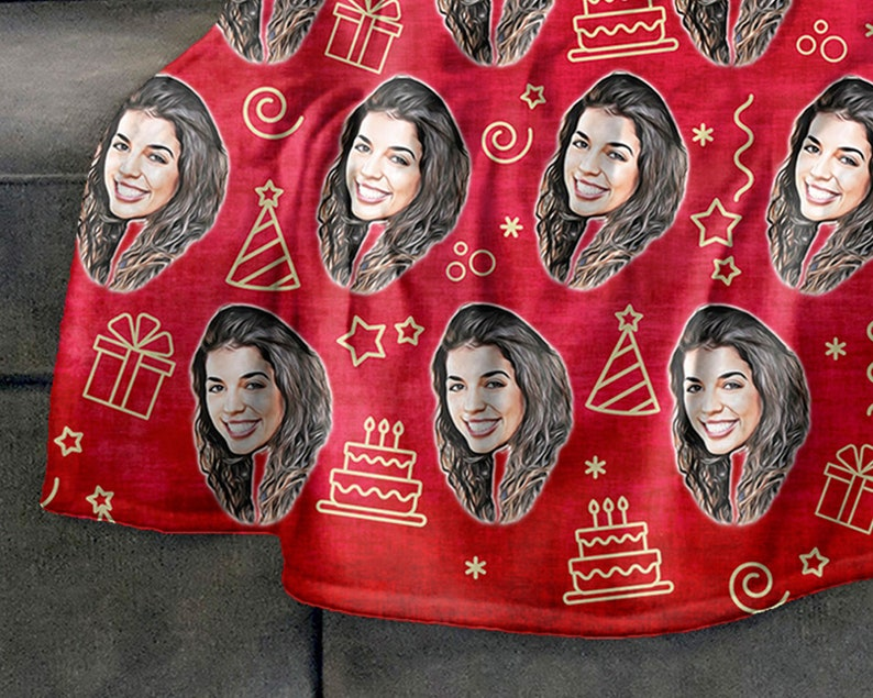 Personalized Picture Blanket Gifts For Teens Funny Birthday Gifts Turn Picture Into Art Custom Photo Blanket Red Blanket For Girlfriend