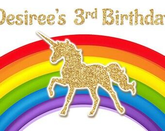 High Chair Ivory Unicorn,Eyelashes,Pink Gold,Fabric Garland,Banner,Fabric Banner,Birthday Banner Photo Backdro,Decor,Rag Rose Hi Chair