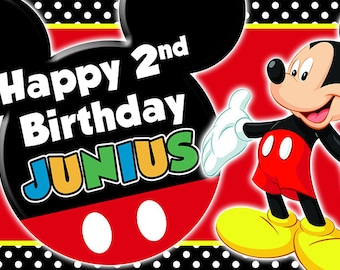 Mickey Mouse custom Birthday Banner