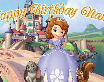 Sofia the First Birthday Banner (bridge)