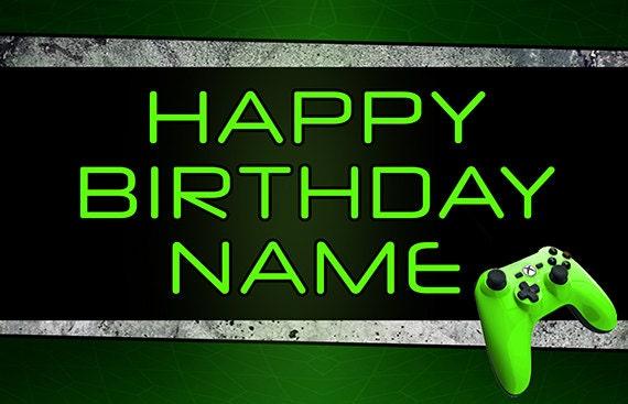 Gamers Xbox Birthday Personalize Custom Printed Backdrop Etsy