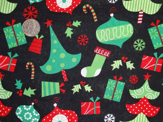 christmas xmas trees ornaments joann cotton quilting fabric 34 inches only - Joann Fabrics Christmas Decorations