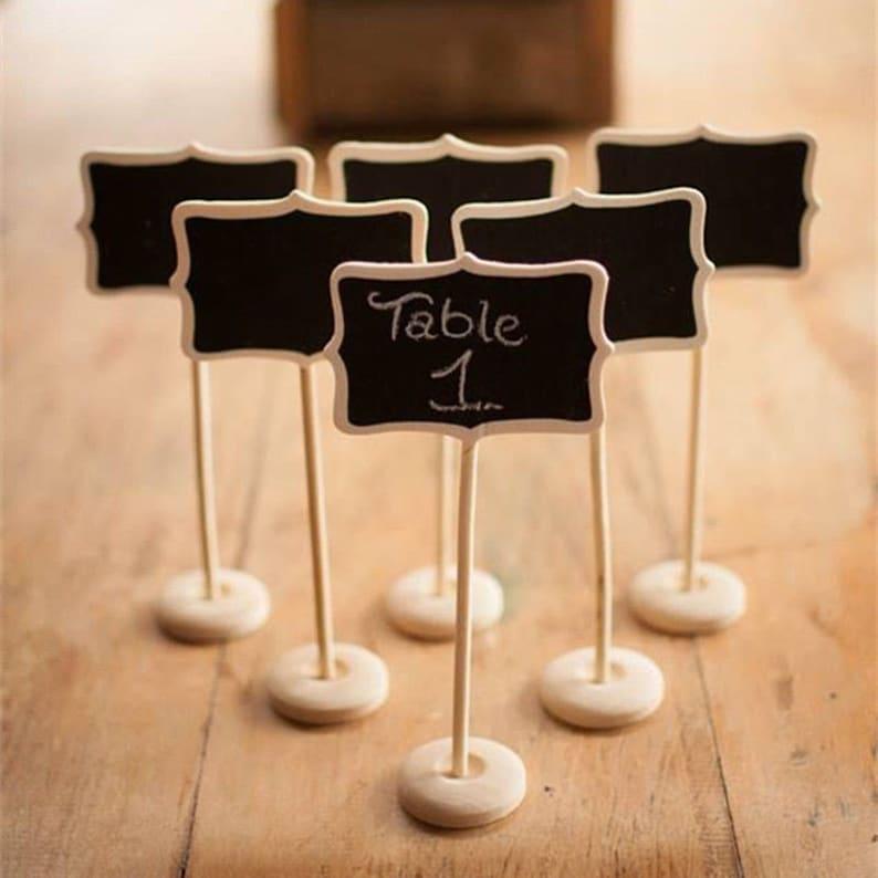 10x Mini blackboard on stick favours placeholder segnatavolo Wood Decoration