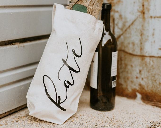 Personalized Wine Tote - Vertical - Font 5