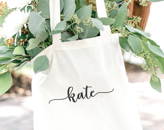 Personalized Canvas Tote - Font 1