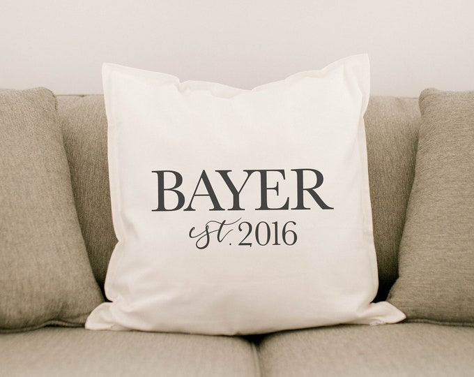 Personalized Name & Date Pillowcase