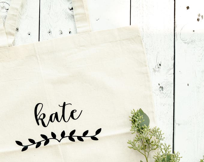 Personalized Canvas Tote - Font 3