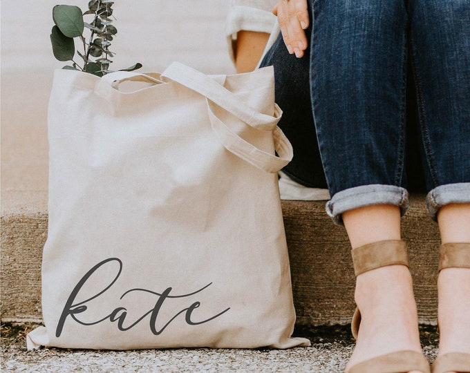 Personalized Canvas Tote - Font 5