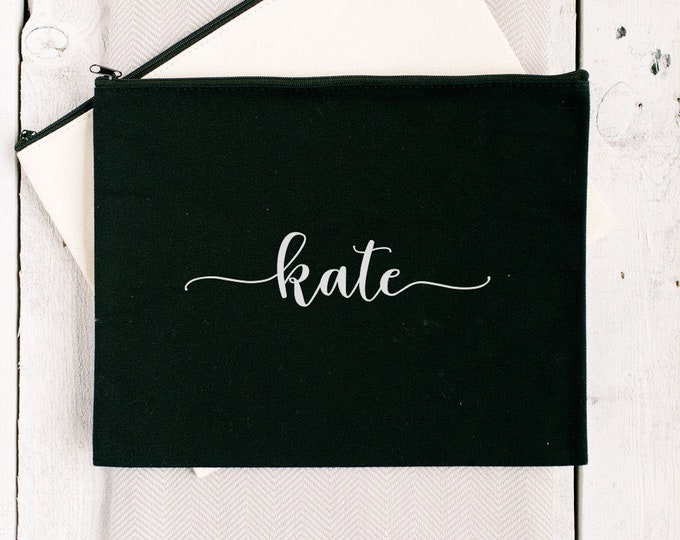 Personalized Clutch - Black - Font 1