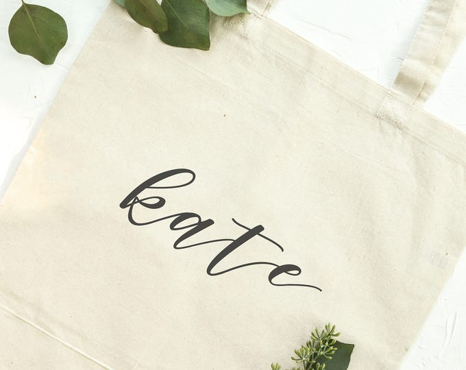 Personalized Canvas Tote - Font 2