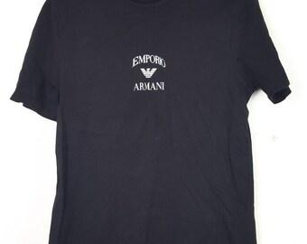ee157416c5bdd Vintage EMPORIO ARMANI Spellout Big Logo Fashion Designer Tee Shirt
