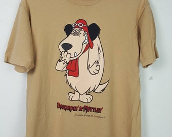 11207548b Vintage DASTARDLY & MUTTLEY In Their Flying Machine Wacky Races Cartoon  Character Shirt