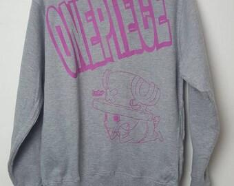 Vintage One Piece Japanes anime manga tony tony  chopper sweatshirt