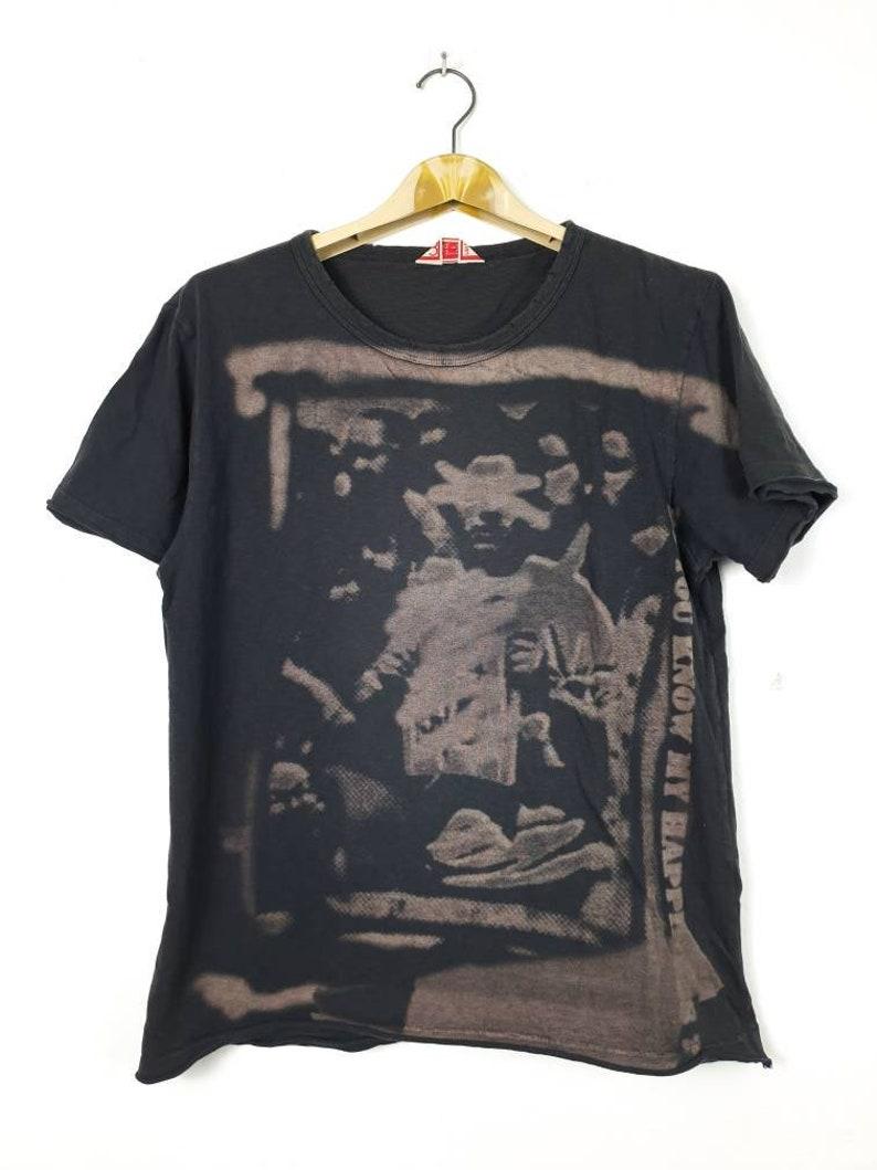Vintage Stlye DISTRICKLY By UNITED ARROWS Japanese Brand Designer Streetwear Forest Motive Fullprint Button Down Shirt