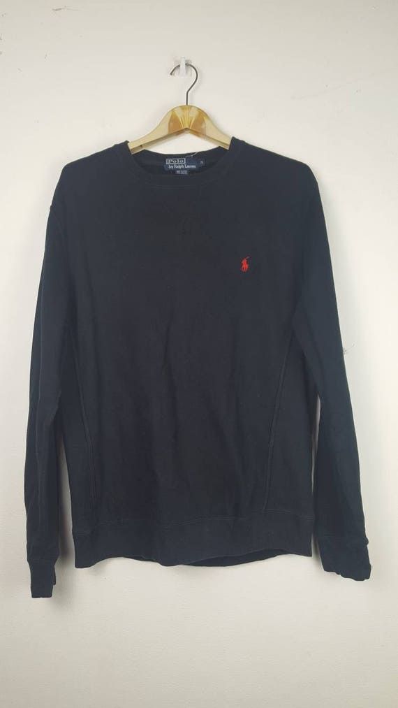 Vintage Polo Ralph Lauren small pony black sweatshirt