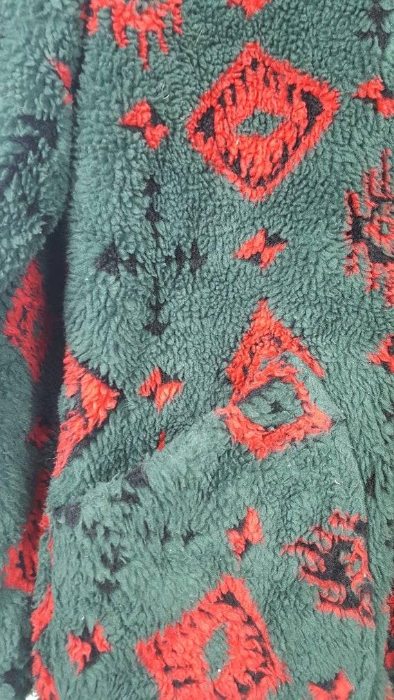 Abstrack fleece jacket Design Rare Vintage PENFIELD Fullprint q04O6I