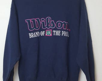 Vintage Wilson brand of w the pros sweatshirt big logo spellout