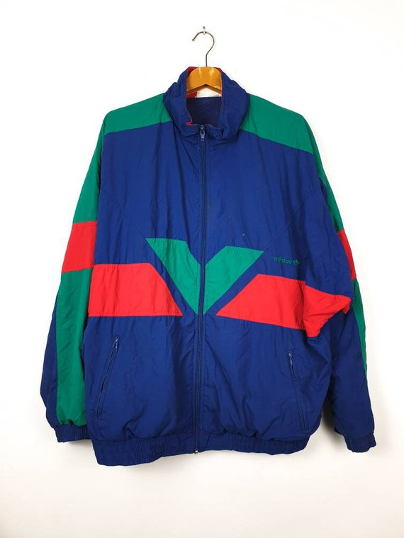 Vintage 90's ADIDAS Multi Colour Windbreaker Colou