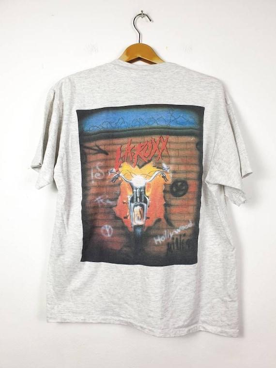 Vintage 90's L.A. ROXX American Glam Rock Band Shi