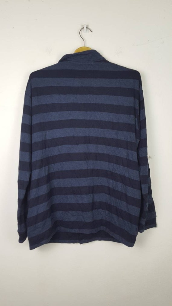 Living Yamamoto Up Button Vintage Long Shirt Japanese Sleeves Striped For by Y's Yohji Designer vzXqE