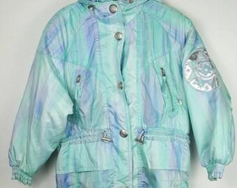 Vintage  Premier by Descente colourful ski jacket