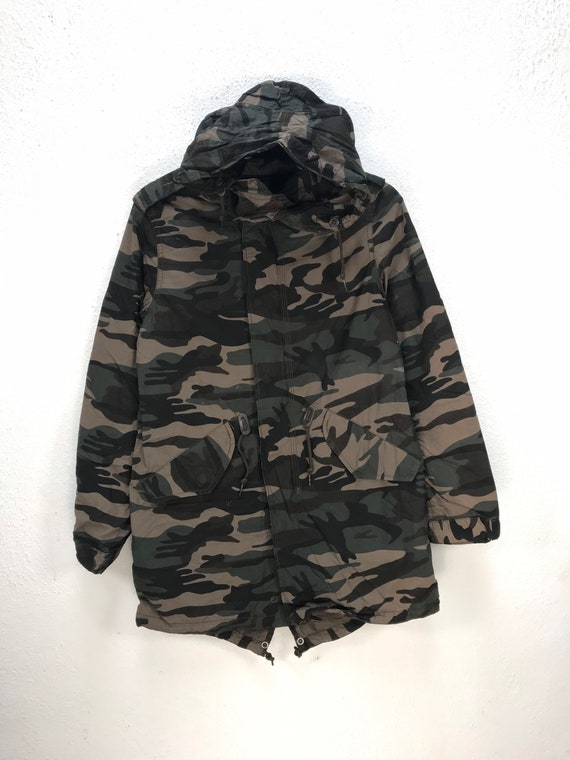 ALPHA INDUSTRIES CAMOUFLAGE Military Style Parka H