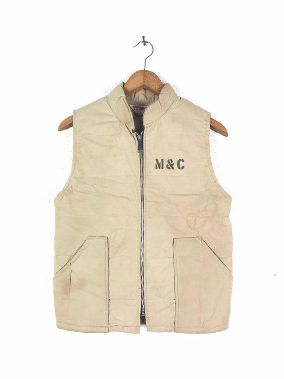 Vintage Tomcat Men's Zipper Vest Military Style Ve