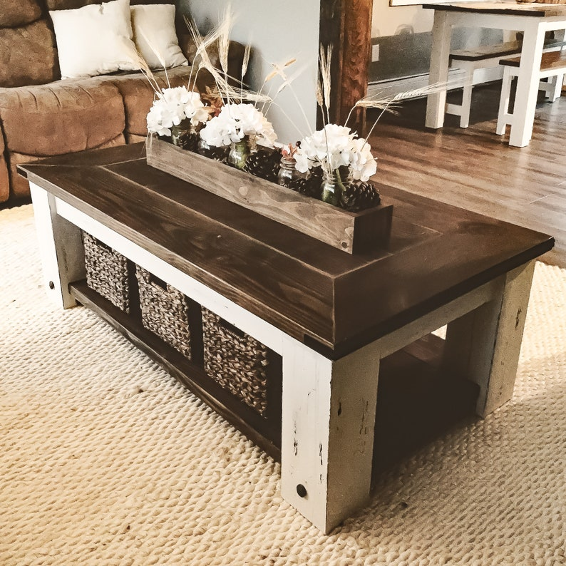 Coffee Table Plans.Diy Farmhouse Coffee Table Plans Woodworking Plans Diy Furniture Diy Plans Living Room Furniture Farmhouse Furniture Rustic