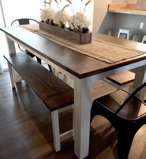 Diy Farmhouse Table Plans With Benches Woodworking Plans Etsy - Dining-room-tables-plans