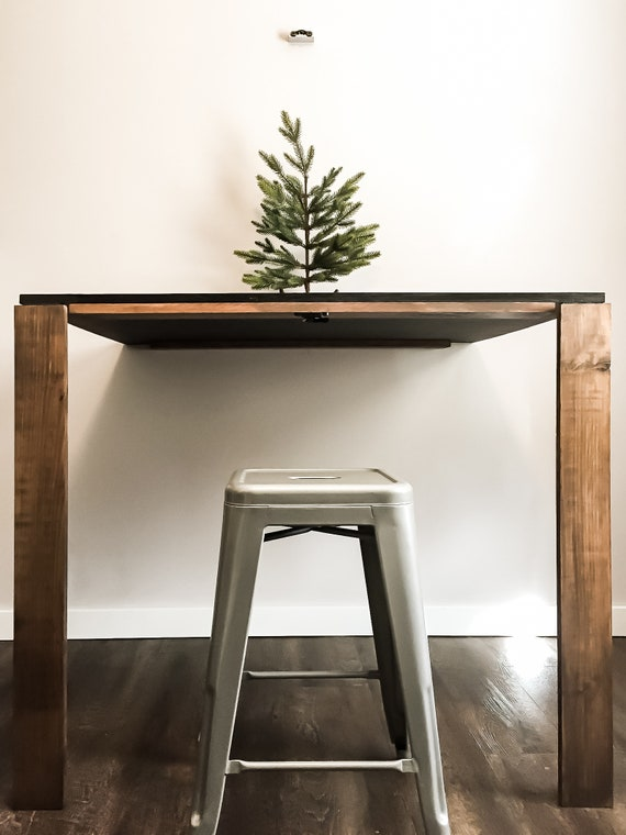Diy Fold Out Chalkboard Craft Table Plans Woodworking Plans Diy Furniture Diy Plans Office Furniture Farmhouse Furniture Rustic