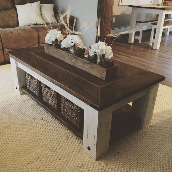 Diy Farmhouse Coffee Table Plans Woodworking Plans Diy Etsy - Wood-coffee-table-plans