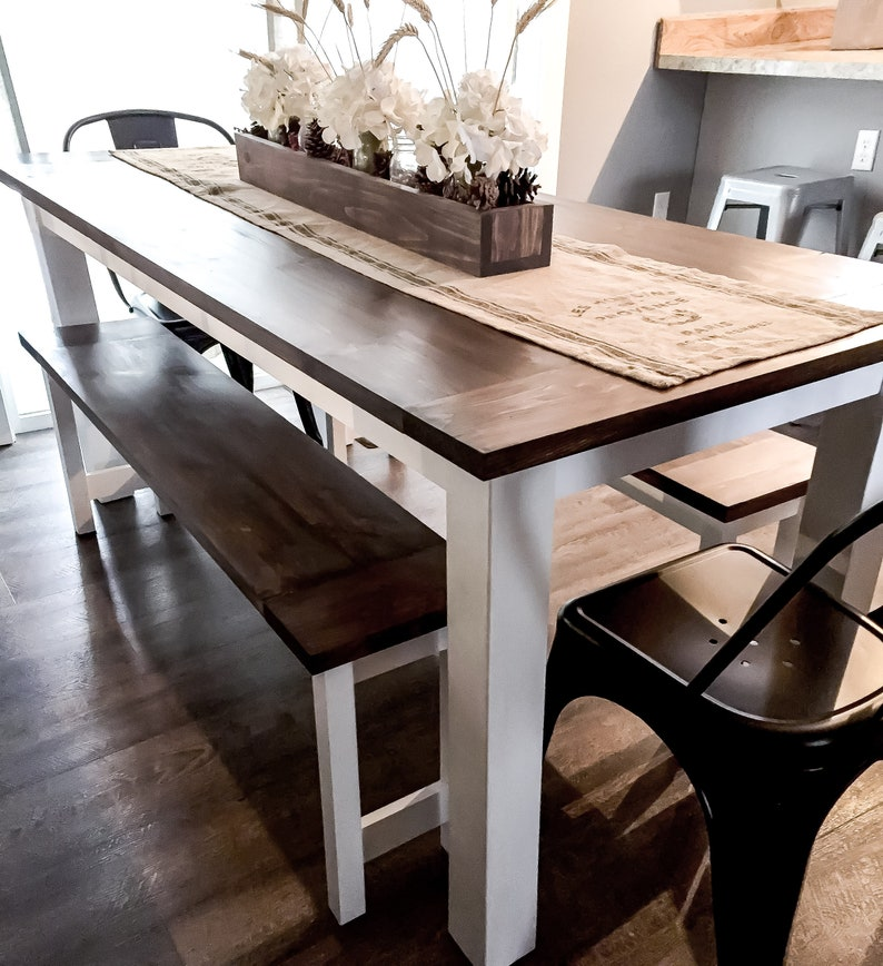DIY Farmhouse Table Plans With Benches Woodworking