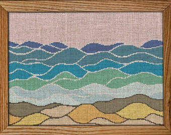 Get 30% off when you buy two or more / Cross Stitch Pattern / PDF Chart Instant Download / Beach Cross stitch Pattern / Ocean Cross Stitch