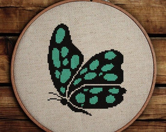 Get 30% off when you buy two or more patterns / Cross Stitch Pattern / PDF Chart Instant Download / Butterfly
